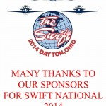 Many Thanks to our sponsors of Swift National 2014