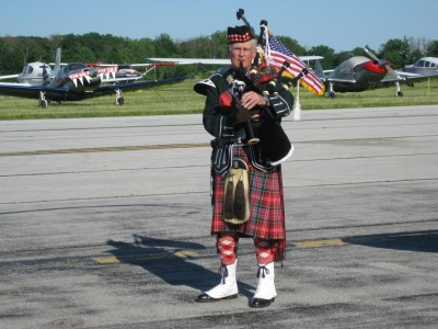 "Dave Anderson Playing ""Taps"" on the pipes"