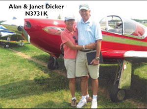 Alan and Janet Dicker with Swift N3731K AirVenture 2014 winner of Custom Class C (151-235 HP)