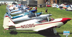 Row of Swifts parked at AirVenture 2014