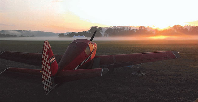 Great sunrise photo of N853C woned by Cody Coombs of La Grange, KY at this year's Lee Bottom Fly-in just nort of Louisville, KY.